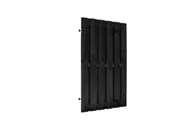 Deurframe met planken verticaal zwart
