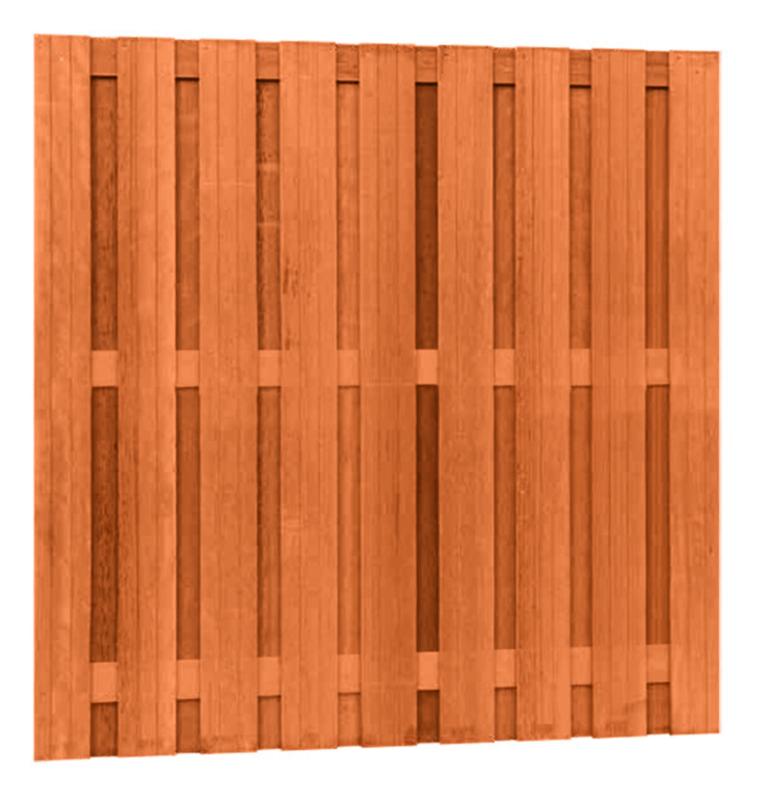 Hardhouten plankenscherm 17-planks