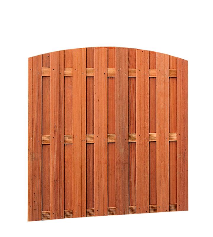 Hardhouten toogplankenscherm 15-planks