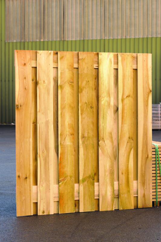 Plankenscherm 15-planks 180x200