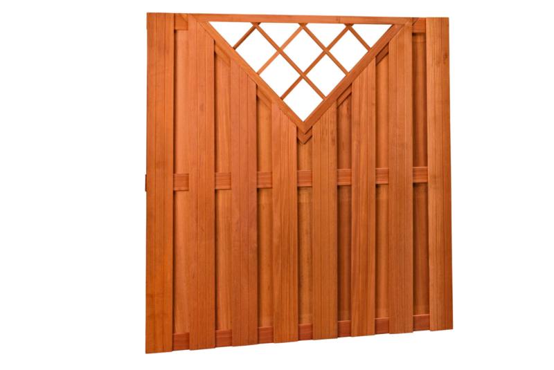 Hardhouten plankenscherm 15-planks