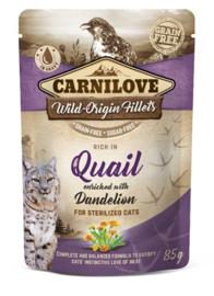 Carnilove Cat Pouch Quail 85gr