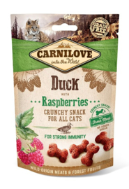 Carnilove Snack Kat Crunchy Duck With Raspberries 50gr