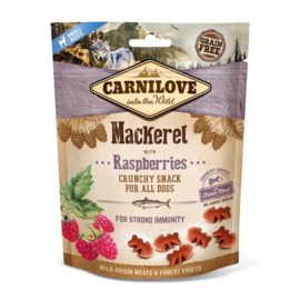 Carnilove Crunchy Snack Mackerel with Raspberries 200gr