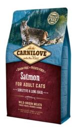 Carnilove Salmon Sensitive & Long Hair 2KG