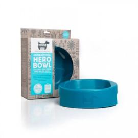 Hero Bowl antibacteriële eet- en drinkbak Ocean Blue