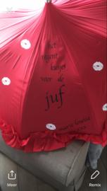 Paraplu's met tekst