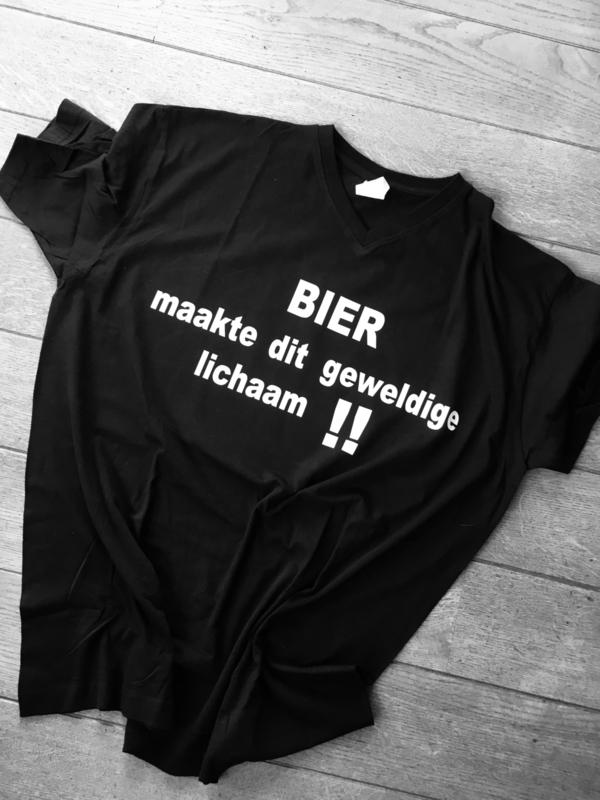 Bier maakte dit geweldige lichaam t-shirt