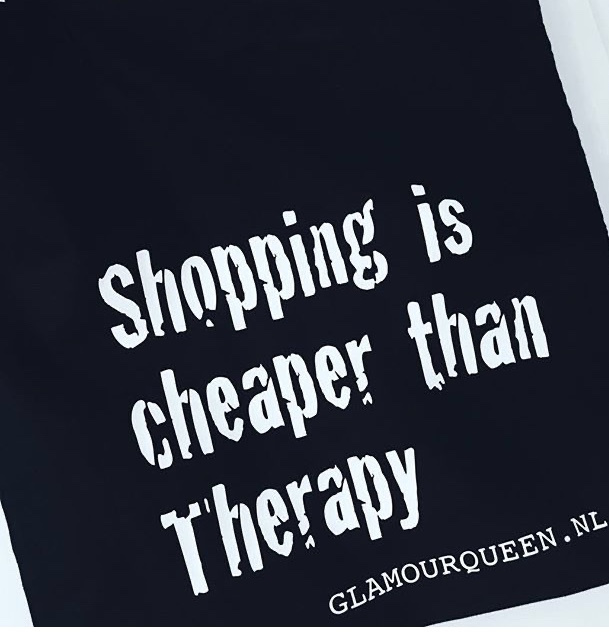 Tas shopping is cheaper than therapy