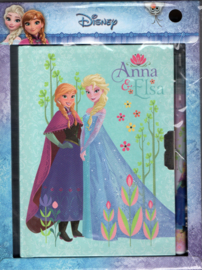 Dagboek en pen Disney Frozen Anna & Elsa