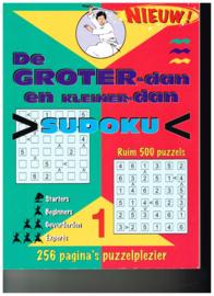 nieuw!!! De groter - dan en kleiner - dan Sudoku ruim 500 puzzels