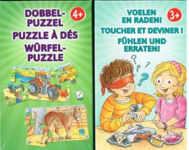 set van 2 spellen, vanaf 3 jaar en vanaf 4 jaar, Dobbelpuzzel en Voelen en raden!