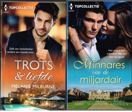 Topcollectie 2 boekjes/ Trots & Liefde/ Minnares van de miljardair/ pockets