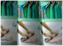 vacuüm bags/ vacuüm opbergzakken 5 pakken/ oprolbaar/ plastic/ 2 afmetingen