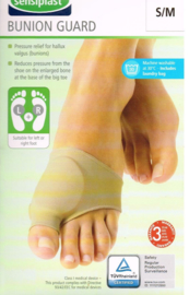 Bunion guard S/M voor links of rechts teensteun met gelpad Sensiplast