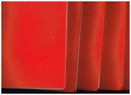 ringsachrift set 5x rood gelijnd 2x en ruit 3x kaft plastic A5 formaat/ ruit 5x5 cm/ 72 bladen/ mix FSC met 8 labelstickers Mariposa