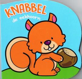 De eekhoorn Knabbel baby of peuterkartonboekje
