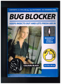 Bug blocker/ keeps insects out and lets fresh air in/ magnetic insect screen/ easy installation