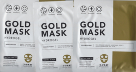 set van  Gold mask hydrogel 2  - part facial mask