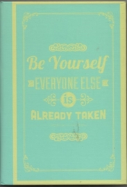 Notebook  Be yourself