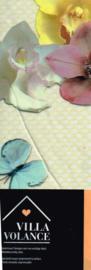 vinyl tafelkleed rechthoekig 200x140 cm/ nappe de table en vynil bruin beige bloemen en vlinders blokjes