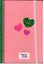 Om cadeau te geven/ voor uzelf/ XoXO with love, lief, rose and green
