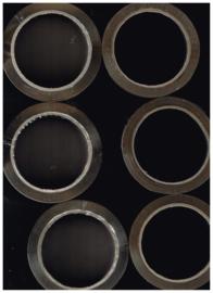set van 6  rollen verpakkingstape met schaar/ bruin 50mmx66m/ doorzichtig 66mx50mm  met knipschaar 20 cm
