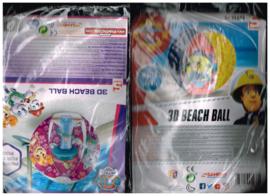 vakantie vieren in distance!!! 3D beach ball Sam de brandweerman en Paw Patrol geschikt voor zwembad