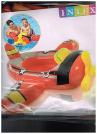Intex 1.19mx1.14 m/ zwemboot/ plastic/ niet voor kinderen onder 3 jr/ gebruik door kinderen onder toezicht