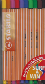 Stabilo 10 stuks fineliner point 88 nr fine 0.4
