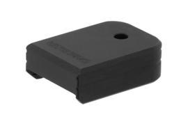 (4245) UTG PRO® +0 Base Pad, Glock Small Frame,, Matte Black Aluminum Magazijn Basepad