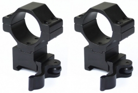 (1282) 30mm Quick Release Medium Picatinny Mount Ring