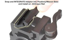 (4204) UTG 11mm naar picatinny / weaver adapter