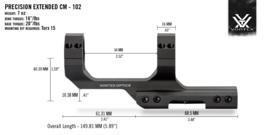 (9410) Vortex Cantilever Montage 25,4 mm 2-Inch Offset (1.59 inch/40.39mm)