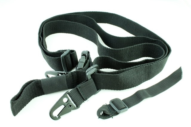 (1915) Tactical 3 point rifle sling black