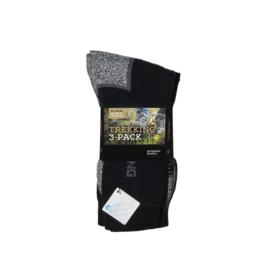 Antibacteriële Trekking Sokken - Zwart - 6 Paar
