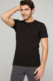 Longfit - Tshirts - Zwart - 4 Pack