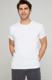 Longfit - Tshirts - Wit - 4 Pack