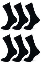 Teckel - Damessokken - Zwart - 6 Paar