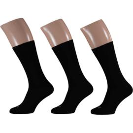 Merino Wollen Sokken - Zwart - 3 Paar