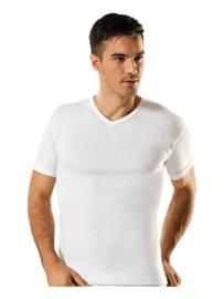 V hals - Tshirts - Wit - 5 Pack