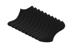 Sneakersokken - Zwart - 10 Paar