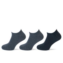 Teckel - Sneaker Sokken - Grijs - 6 Paar