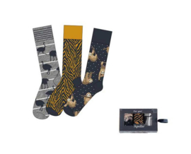 Herensokken - Giftbox - Afrika - 3 Paar