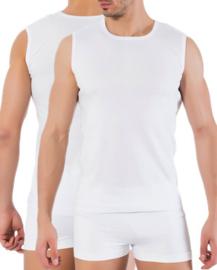 Mouwloze - Tshirt - Wit - 5 Pack