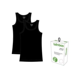 Dames Bamboe Hemd - Zwart- 2 Pack