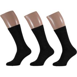Merino Wollen Sokken - Antraciet - 3 Paar