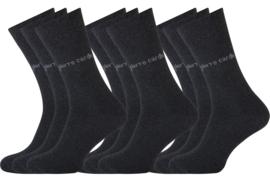 Pierre Cardin - Herensokken - Antraciet - 9 Paar