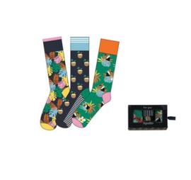 Herensokken - Giftbox - Tropical - 3 Paar