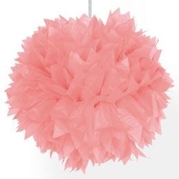 Pompon zalm roze 20 cm